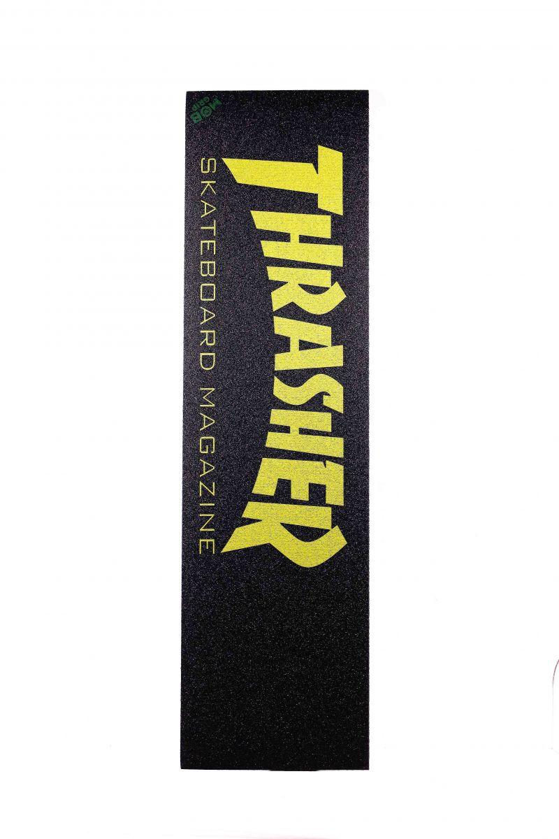 Lixa MOB Grip Thrasher Skate Mag Amarela 9 X 33