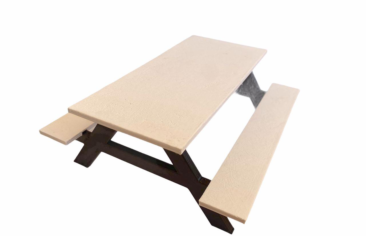 Mesa de Picnic Plástico para Fingerboard 3D Ramps