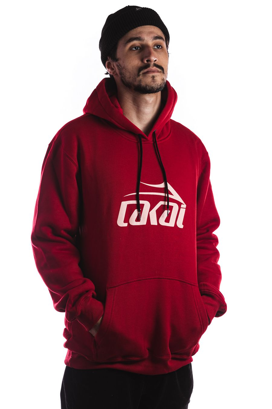Moletom Canguru Lakai Logo Vermelho