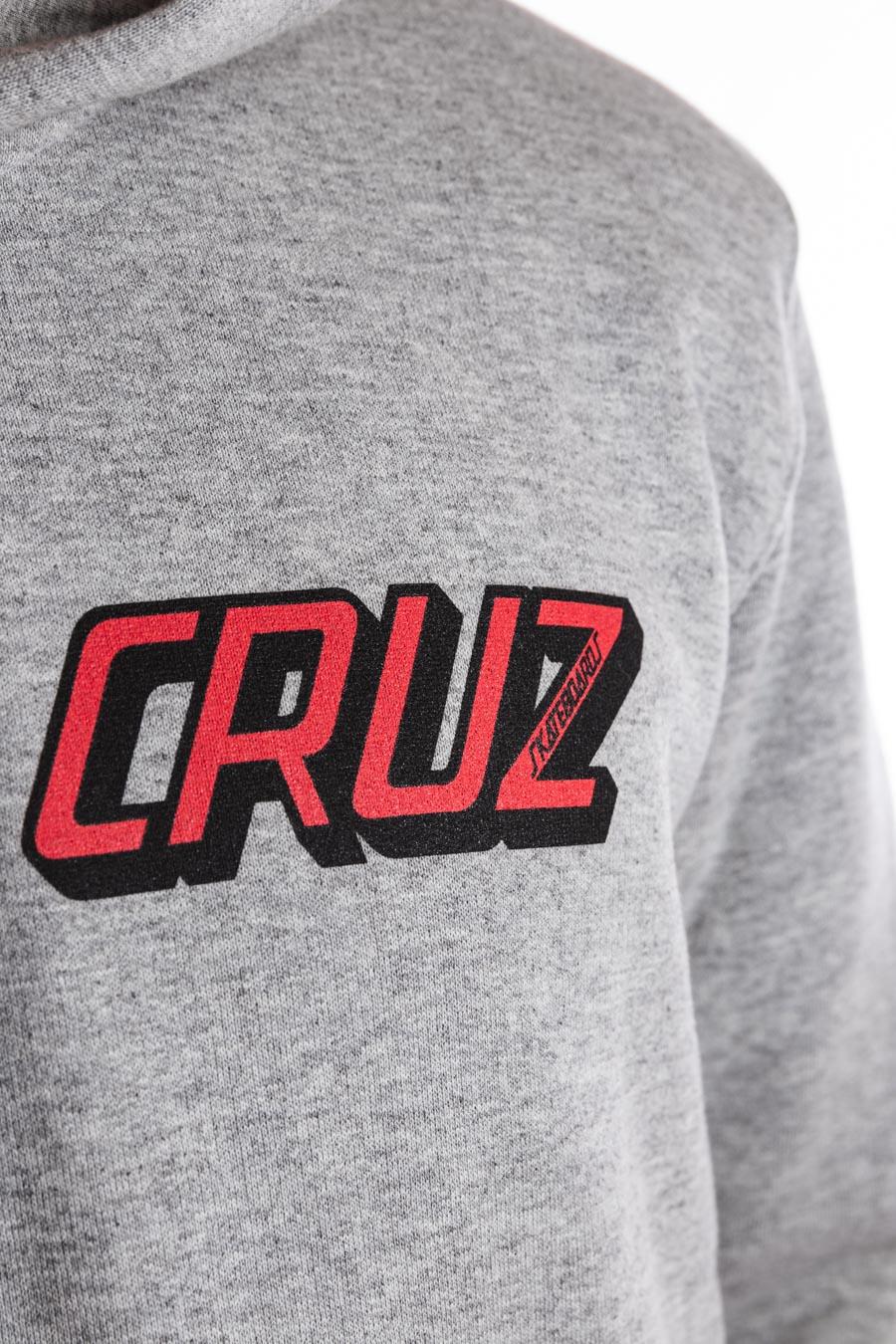 Moletom Santa Cruz com capuz Classic Strip Cinza