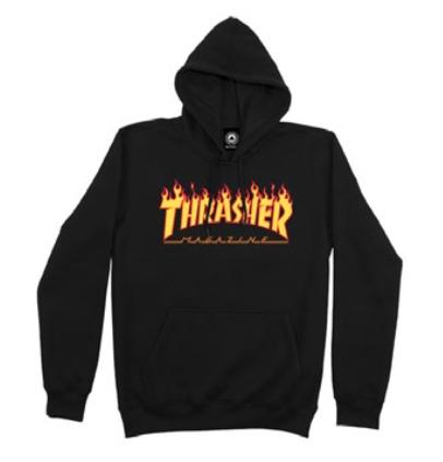 Moletom Canguru Thrasher Flame Preto