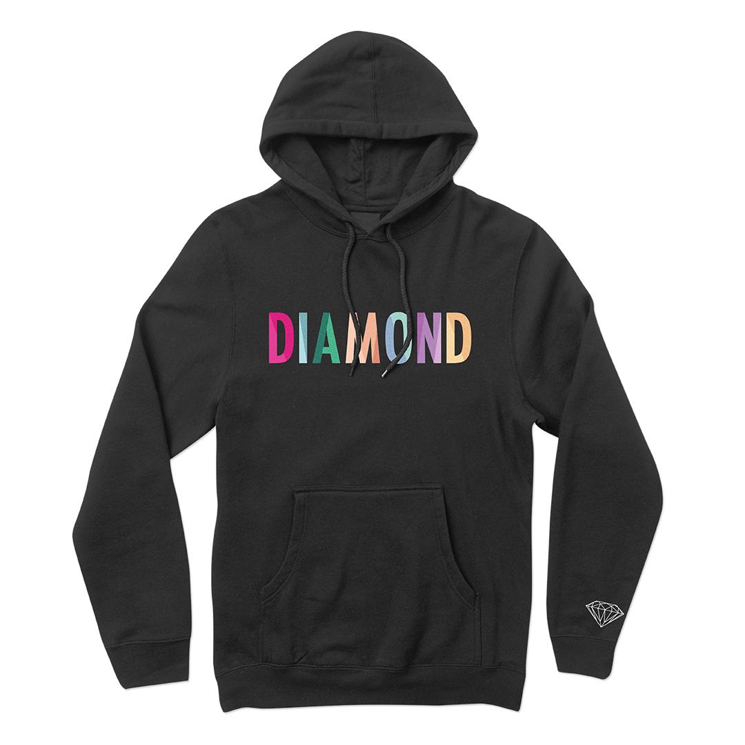 Moletom Diamond com Capuz Puffy Preto