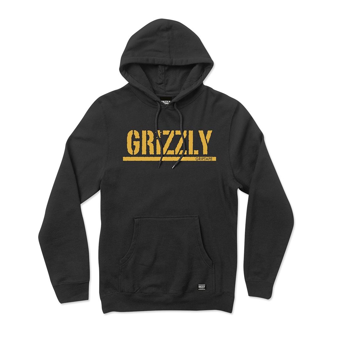Moletom Grizzly com Capuz Stamped Preto