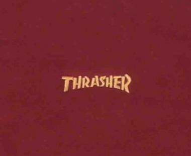 Moletom Sem Capuz Thrasher Logo Mini Bordo