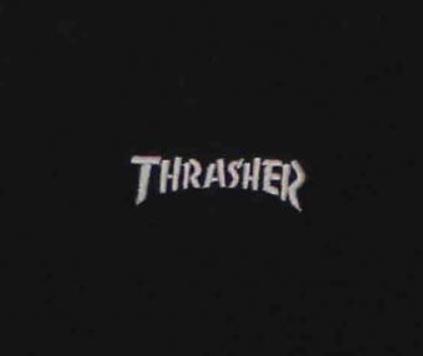 Moletom Sem Capuz Thrasher Logo Mini Preto