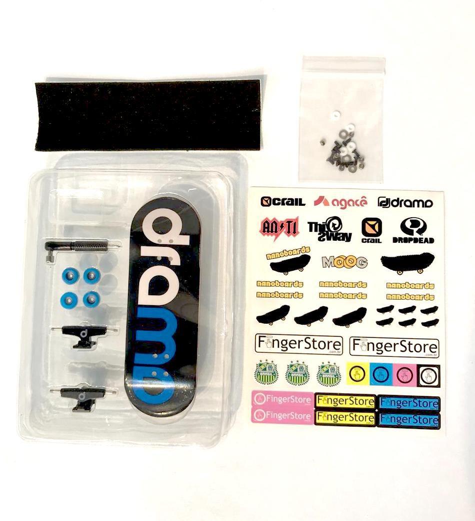 Nanoboards Fingerboard Skate de Dedo 32mm Logo Drama