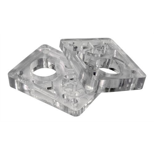 Pads Elevador Silicone Inclinado dupla furação - 0,5cm X 1cm