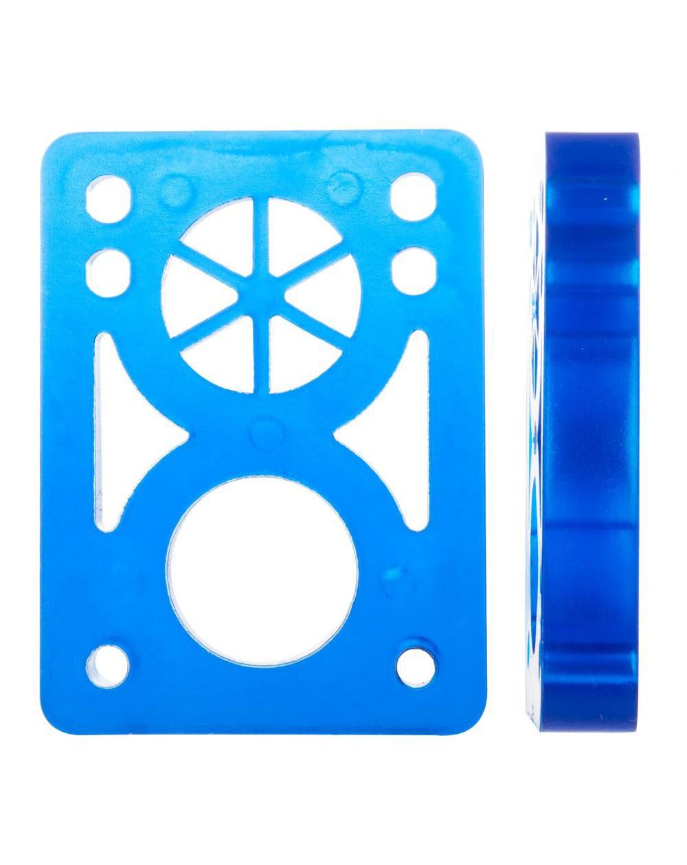 Pads Elevadores Macio dupla furação Reto 1cm Azul