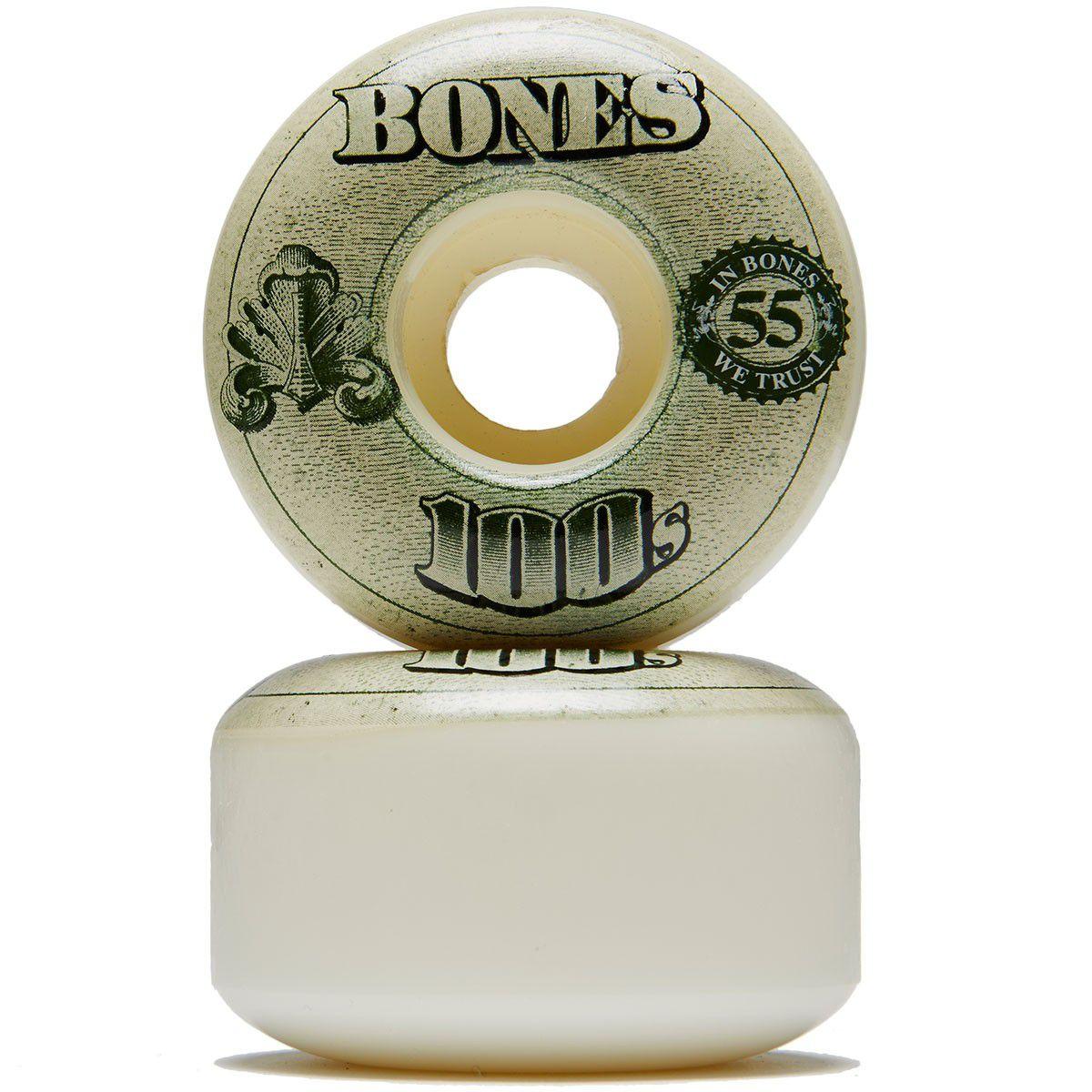 Roda Bones 100's 55mm V4 Branca