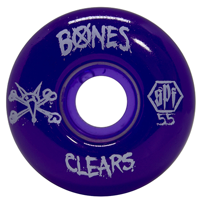 Roda Bones SPF Clear Purple P4 55mm