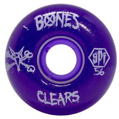 Roda Bones SPF Clear Purple P2 56mm