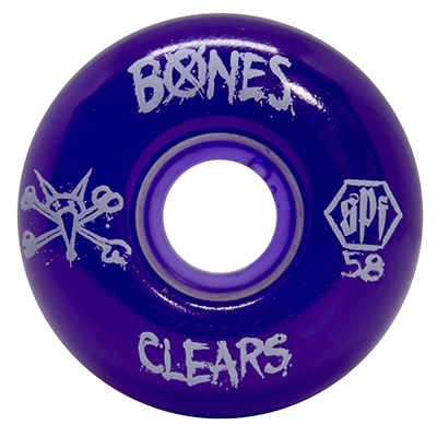 Roda Bones SPF Clear Purple P2 58mm