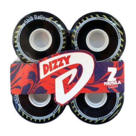 Roda Dizzy Skid Rolls 65mm 82a Preta