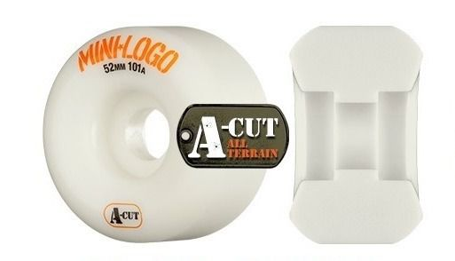 Roda Minilogo A-Cut Cônica 53mm Branca