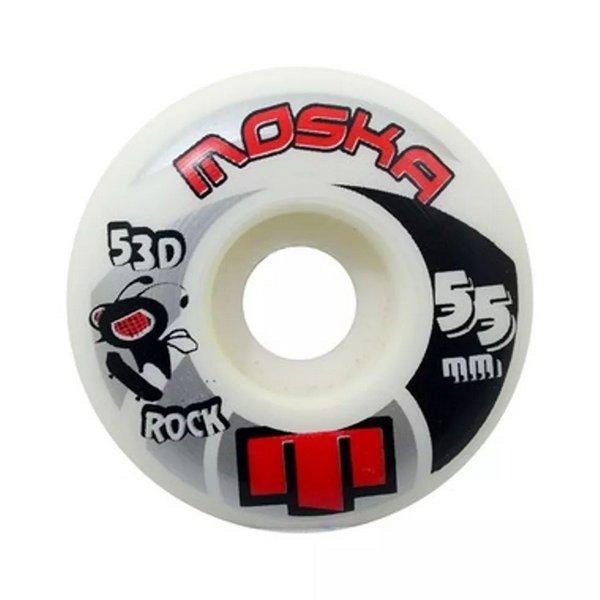 Roda Moska Rock 53D Branca 55mm