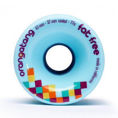 Roda Orangatang FAT FREE Azul 65mm 77a