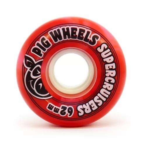 Roda Pig Supercruisers Swirl Red 85a 62mm
