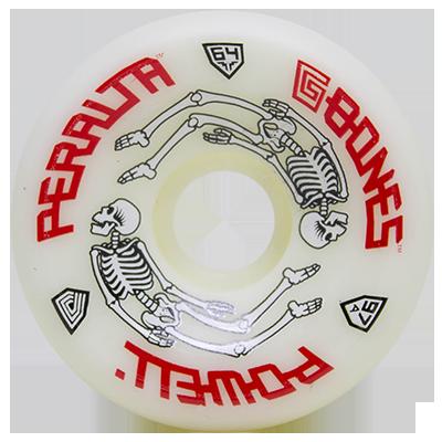 Roda Powell Peralta G Bones Branca 64mm 97a