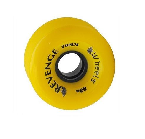 Roda Revenge Longboard Freeride 83a Amarela 70mm