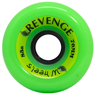 Roda Revenge Longboard Freeride 83a Verde 70mm