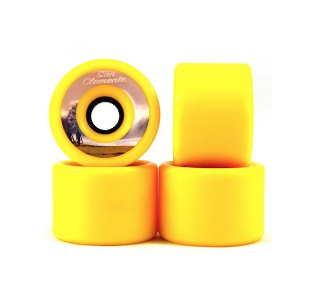 Roda San Clemente Speed Amarela 70mm 80a