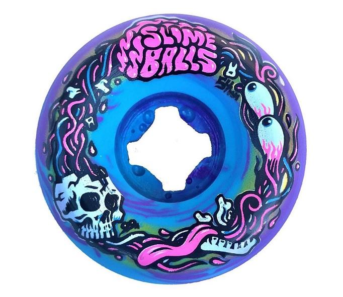 Roda Slime Balls Brains Speed Blue Purple Swirl 54mm 99a
