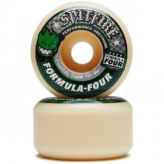 Roda Spitfire Formula Four Green Print Conical 53mm