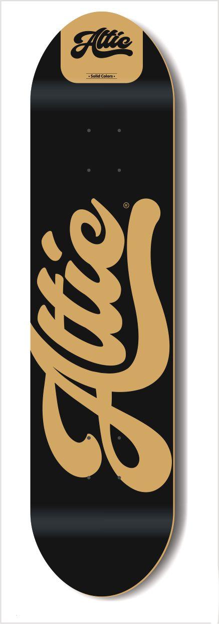 Shape Profissional Attic Skateboard Marfim Solid Colors Preto 8.5