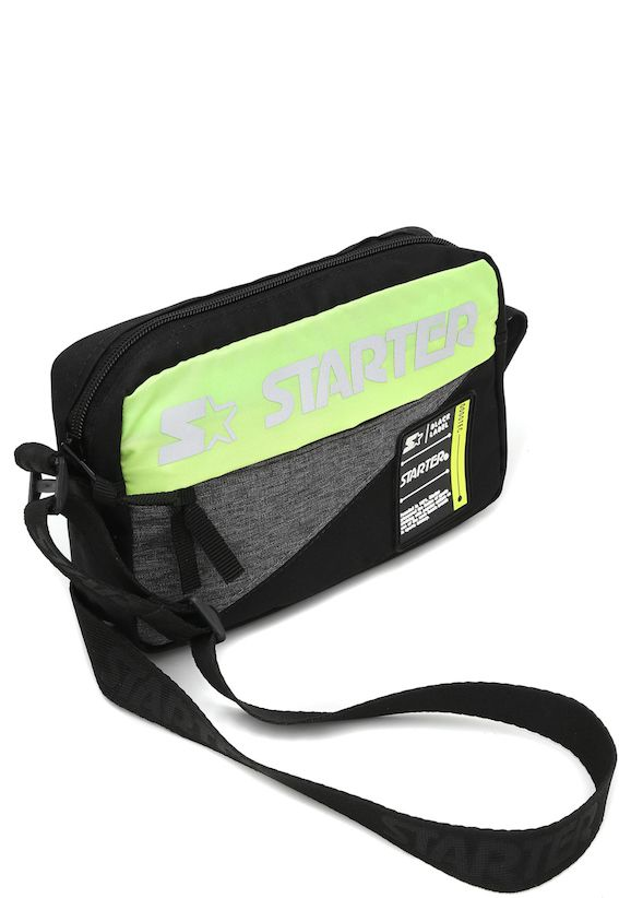 Shoulder Bag Starter Logo Verde Limão