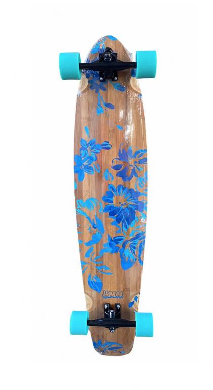 Skate Hondar Longboard 40' Completo Floral Blue