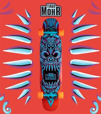 Skate Hondar Longboard Speed 40 Completo Tiago Mor