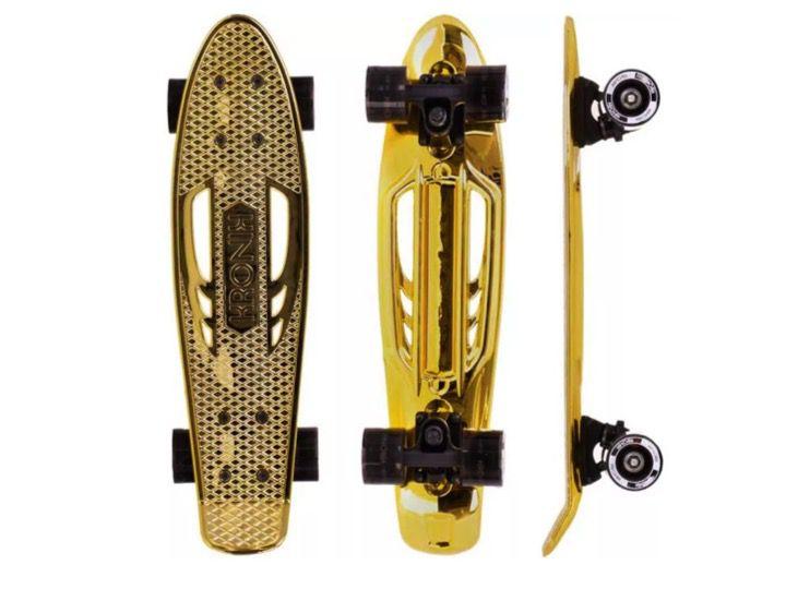 """Skate Mini Cruiser Kronik Dourado 6""""x22"""""""