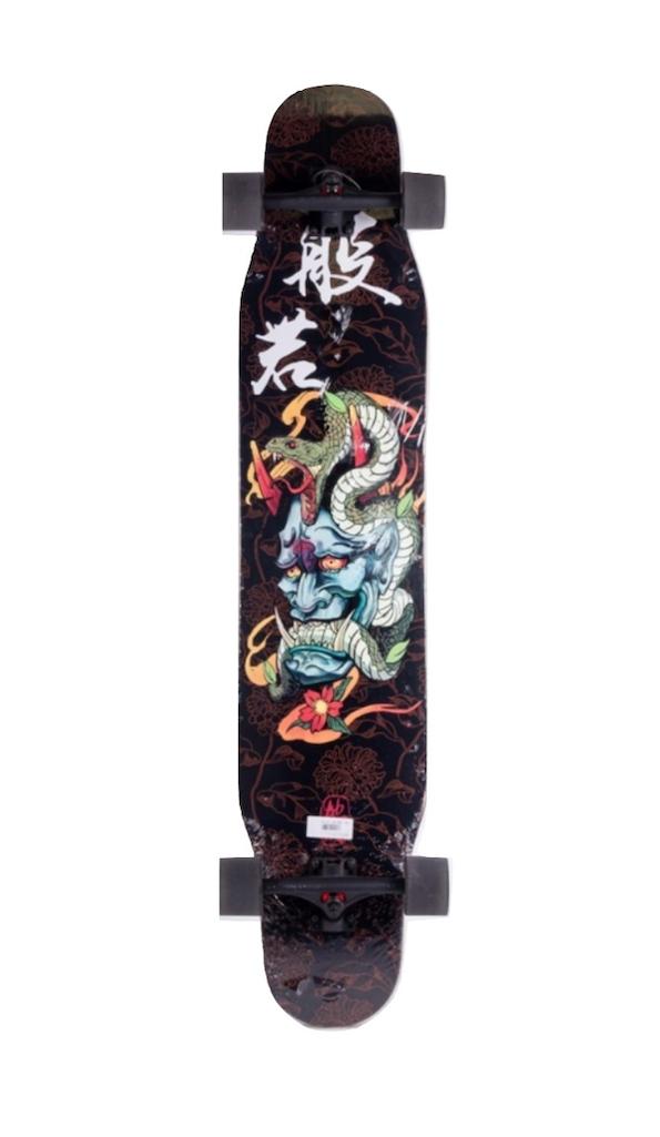 """Skate Revenge Longboard Dancer 58"""" Roda Led Samurai"""
