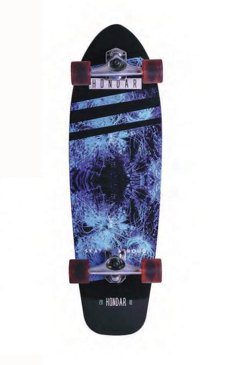 Skate Simulador Surf Fish Tail Squash Hondar 10'' x 33''