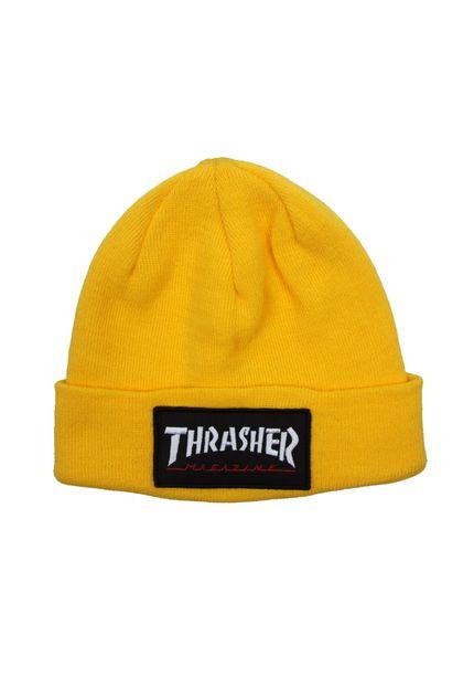 Touca Thrasher Skatemag Patch Amarela