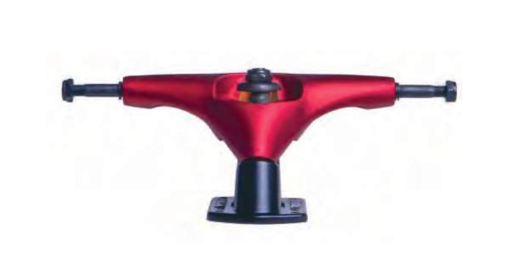 Truck Longboard Simulador de Surf  Hondar 158mm Vermelho