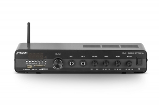 Amplificador de Áudio Frahm Slim 2200 Optical 120 Watts RMS Bluetooth USB (até 24 caixas)