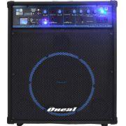 """Caixa de Som Amplificada Oneal 10"""" 80W RMS OCM 390 USB SD FM"""