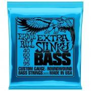 Encordoamento Contrabaixo 4 Cordas Ernie Ball 0.40-.095 Extra Slinky 2835