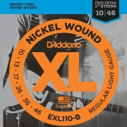 Encordoamento Guitarra D'Addario .010-.046 EXL110-B Regular Light