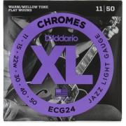 Encordoamento Guitarra D'addario .011-.050 ECG24 Jazz Light