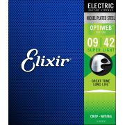 Encordoamento Guitarra Elixir Optiweb 009 Super Light