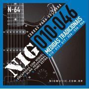 Encordoamento Guitarra Nig 010 Média Tensão