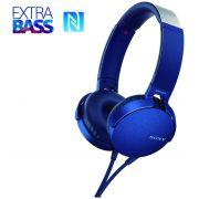 Fone de Ouvido Sony Headphone com Extra Bass Azul MDR XB550AP