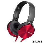 Fone de Ouvido Sony Headphone com Extra Bass Vermelho MDR XB450AP Vermelho
