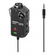Interface Comica para Guitarra ou Microfone Pré Amplificada LinkFlex AD2 para Camera e Smartphone