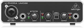 Interface de Áudio Behringer U-Phoria UMC22 USB