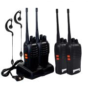 Kit 2 Rádio Comunicador Walk Talk UHF Baofeng BF 777S com Base e Headset