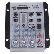 Mesa de Som LL Nanomix com 4 Canais NA302BT com Bluetooth