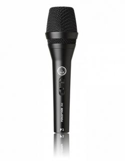 Microfone de Mão AKG P3S Perception Vocal Live Instrumental Dinâmico